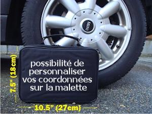Personnalisez vos coordonnées sur la malette.
